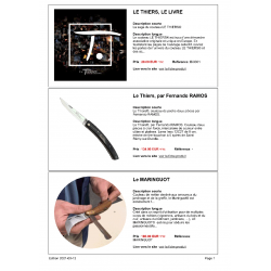 Catalogue de l'Atelier Sauvagnat, extrait