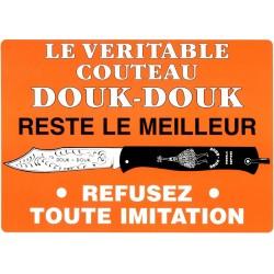 Affiche officielle par la maison COGNET, fabricant du Douk-Douk