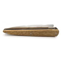 Arbalète, couteau pliant 12 cm, manche chêne